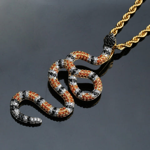 Image of Snake Pendant Necklace