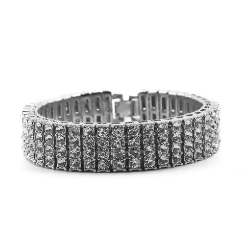 Four Rows Tennis Bracelet (18 mm)