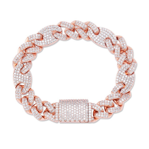 Iced Out CZ Miami Cuban Bracelet (12mm)