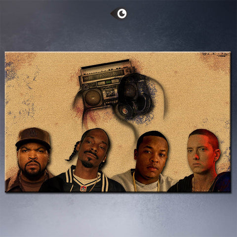 Ice Cube Snoop Dogg Dr dre Eminem Canvas