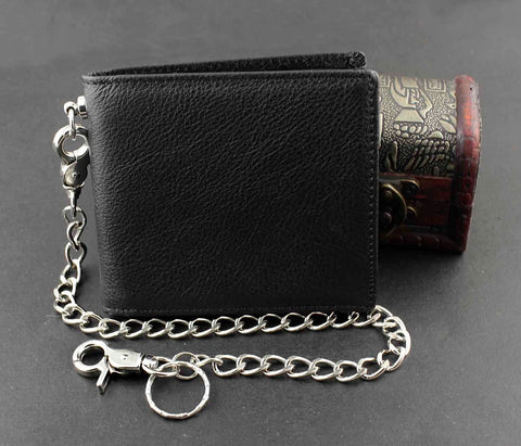 Mens Stud Alligator Style Punk Biker Wallet With A Long Chain Hip Hop Cool Purse