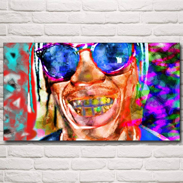 Abstract Chance Space Rap Rapper Art Silk Fabric Poster Prints