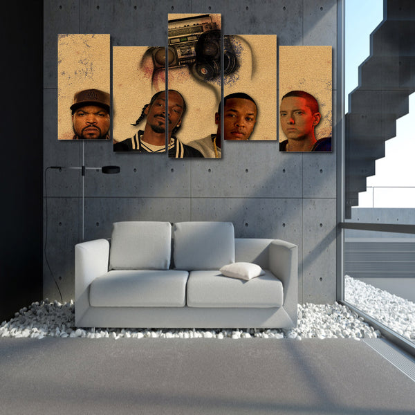 Ice cube snoop dogg dr dre eminem Painting canvas