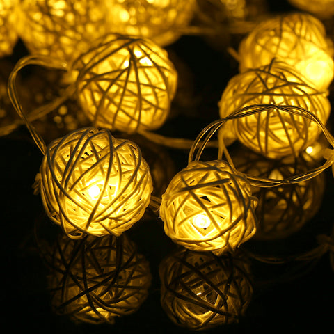 LED Rattan Balls Lights