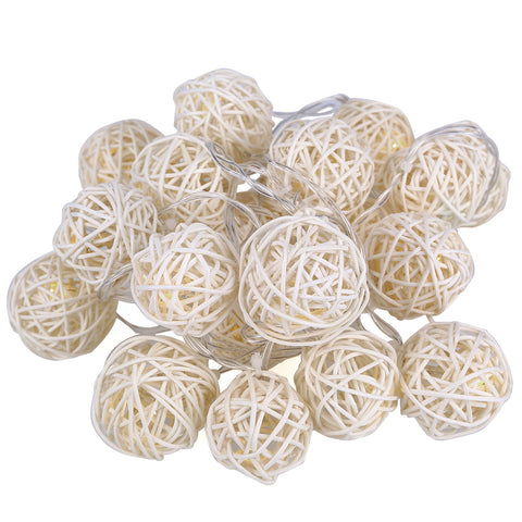 Image of LED Rattan Balls Lights