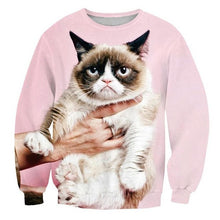 Load image into Gallery viewer, Grumpy Knight DJ Fat Stacks Cats Crewneck 3d
