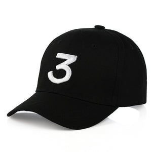 CN-RUBR opular Singer Chance The Rapper Chance 3 Cap Black Letter Embroidery Baseball Cap Hip Hop Hip-hop Snapback Gorras Casque