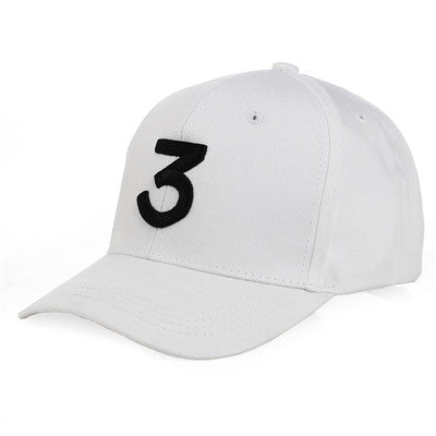 Image of CN-RUBR opular Singer Chance The Rapper Chance 3 Cap Black Letter Embroidery Baseball Cap Hip Hop Hip-hop Snapback Gorras Casque
