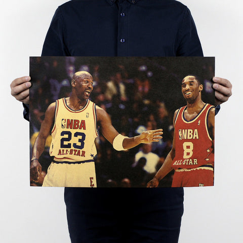NBA Star Michael Jordan Vintage Retro Posters Printing Boys Room Wall Decorations Decorative Painting