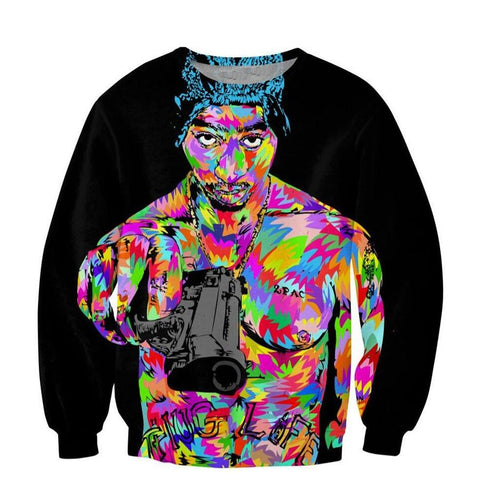 Image of Newest Hip hop Fashion Men 3D Sweatshirt Rap star 2pac