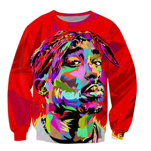 Newest Hip hop Fashion Men 3D Sweatshirt Rap Star