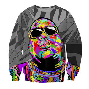 Image of Newest Hip hop Fashion Men 3D Sweatshirt Rap Star