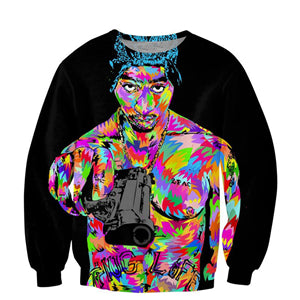 Newest Hip hop Fashion Men 3D Sweatshirt Rap star 2pac