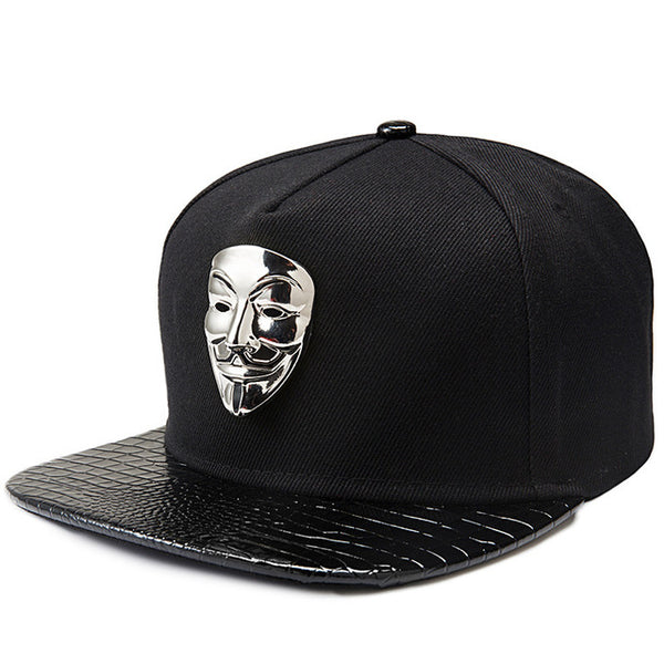 Hip Hop Snapback Caps V For Vendetta Baseball Caps Black Hats Flat Brim Street Bboy Rapper Dancer MC DJ Skate Gorras