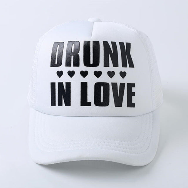 2017 new JUST DRUNK bride wedding Bridal Party Caps Hen Party baseball Trucker Rapper Cap Hats Bachelorette baseball cap