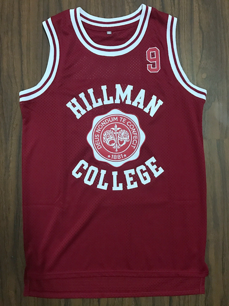 4b5e1690c96d A Different World Dwayne Wayne 9 Hillman College Theater Basketball Jersey  Red