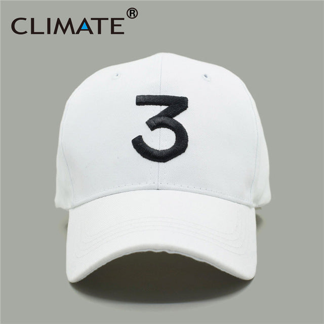 e49da4c26 CLIMATE New Popular Chance The Rapper 3 Hat Cap Black 3D Embroidery  Baseball Cap Hip Hop Streetwear Strapback Snapback Sun Hat