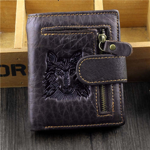 Leather Wallet Wolf&Eagle