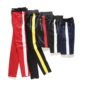 ONCEGALA Zipper Pants Hip Hop Cotton Jogger Urban Clothing Casual Men/Women Bottoms Rap Classic10 Color Pants