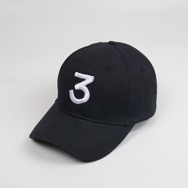 Chance 3 Rapper Baseball Cap Letter Embroidery Snapback Caps Men Women Hip Hop Hat Street Fashion Gothic gorro Black caps