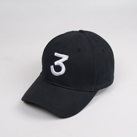 Image of Chance 3 Rapper Baseball Cap Letter Embroidery Snapback Caps Men Women Hip Hop Hat Street Fashion Gothic gorro Black caps