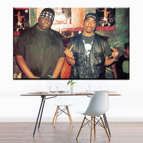 Image of Notorious B.I.G Tupac Biggie Poster Canvas