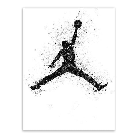 Michael Jordan Watercolor Basketball Painting Poster Abstract Sport Man Wall Picture Canvas Paintings Living Room Home Decor