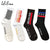 Women Cotton Socks Harajuku Streetwear Flame Letter White Compression Socks Men Stripes Checkered Hip Hop Teen Socks Le66540