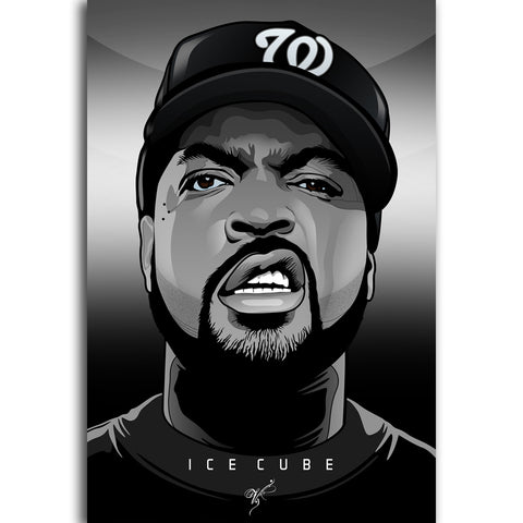 Image of Ice Cube Canvas Painting