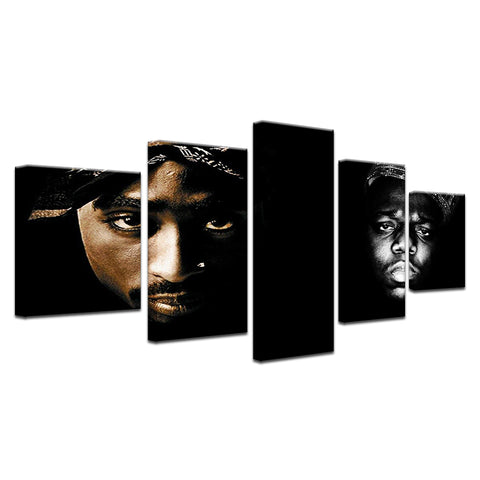 Image of The Notorious B.I.G Tupac 2Pac Canvas