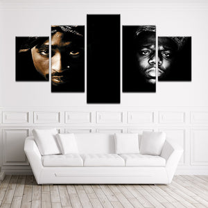 The Notorious B.I.G Tupac 2Pac Canvas