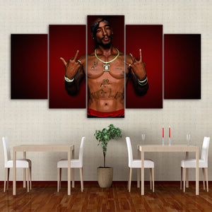 Tupac 2Pac Rapper Wall Art