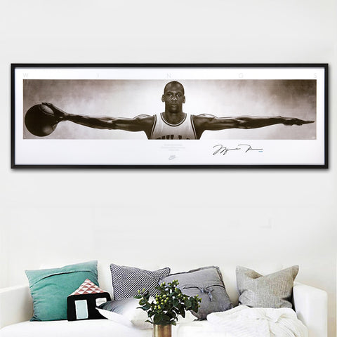Wall Art Canvas Pictures For Living Room Home Decor michael jordan wings autographed poster print canvas Painting