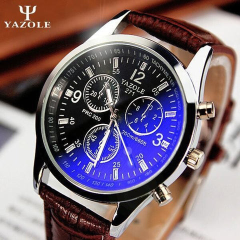 Image of New listing Yazole Men watch Luxury Brand Watches Quartz Clock Fashion Leather belts Watch Cheap Sports wristwatch relogio male