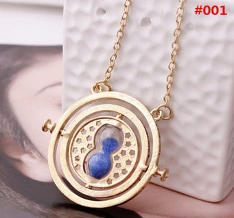 ZRM 20pcs/lot Wholesale Fashion Jewelry Potter Time Turner Pendant Necklace Sand Glass Necklace For Women