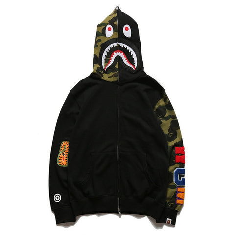 Image of bape shark hoodie sweatshirt European and American Tide brand bathing ape