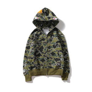 bape shark hoodie sweatshirt marsh camo bathing ape
