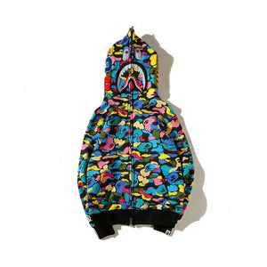 bape shark hoodie sweatshirt Candy colors bathing ape