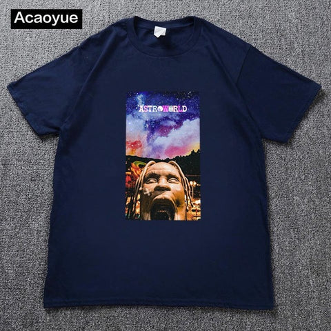 Image of Travis Scotts ASTROWORLD T-Shirts Men/Women Casual Cool O-Neck T Shirt Summer cotton T-shirt Harajuku hip-hop T shirt