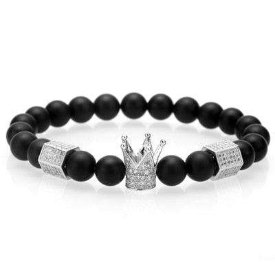 3pcs/Set Braiding Crown Charm Bracelet