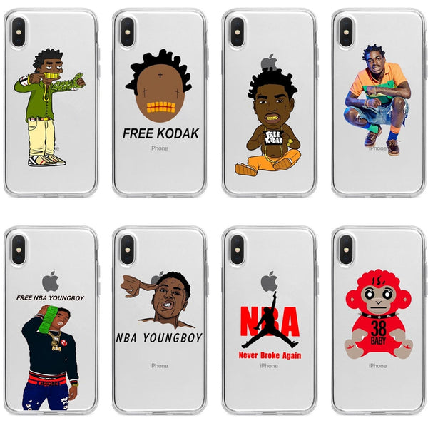 new concept d217c 16490 Broke Again Nba Youngboy 38 Baby Rap Hip Hop Music Kodaks Black Soft TPU  Phone Case For iphone XS Max XR X 5 5s SE 6 6s 7 8 plus