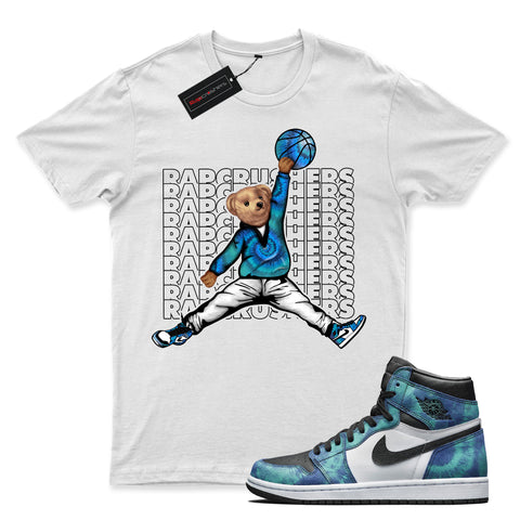 Image of Retro 1 High OG mix shirt   White   JD Teddy Swagger