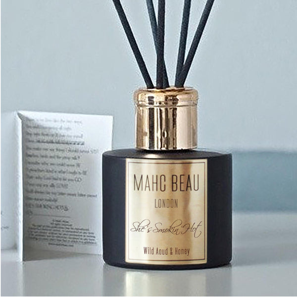 She's Smokin' Hot. Luxury Room Diffuser.  (Wild Aoud & Woodsmoke)