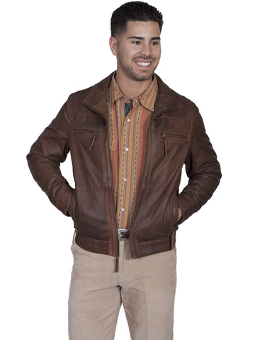 Scully Men's Jackets Lambskin Zip Front Jacket With Pe