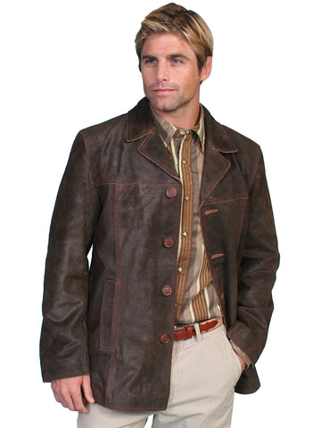 Scully Men's Coats Three Quarter Length Leather Car Co