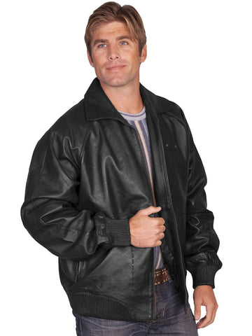 Scully Men's Jackets Zip Front Lamb Jacket With Knit W