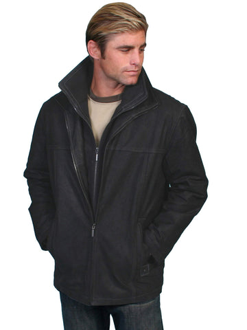 Scully Men's Coats Leather Car Coat With Removable Kni