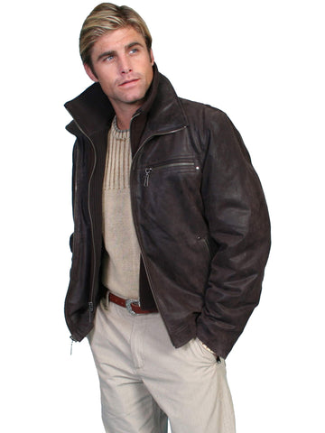 Scully Men's Jackets Leather Jacket With Zip Out Knit