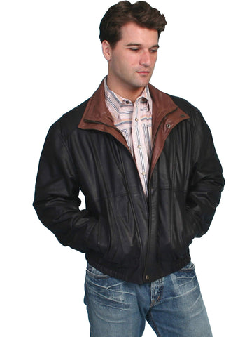 Scully Men's Jackets Featherlite Leather Jacket With D