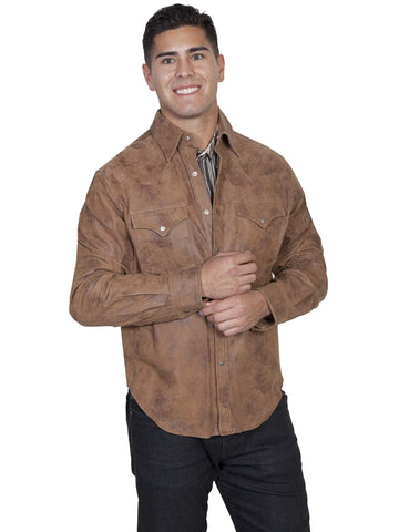 Scully Men's Jackets Frontier Leather Shirt Jacket